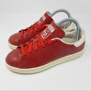 Adidas Red Stan Smith Sneakers Women's Size 6